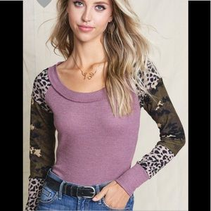 Mauve Camo thermal contrast top (COMING)